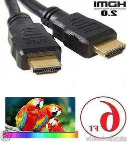 6FT HDMI 2.0 Cable For 4K Ultra HD Smart LED TV Samsung LG S