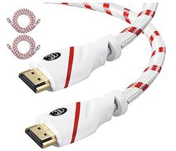 HDMI Cable 6 ft - 2 Pack - High Speed 4K Resolution UHD 2.0b
