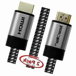 HDMI Cable 1.5 FT  - HDMI 2.0  Ready - 30AWG Braided Cord ..