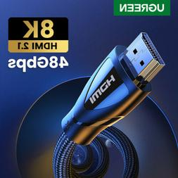 Ugreen HDMI Cable 2.1 Ultra HDR 8K@60Hz 4K@120Hz 48Gbps Fr A