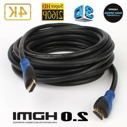 HDMI Cable  Supports 4K@60Hz High Speed Hand-Tested HDMI 2.0