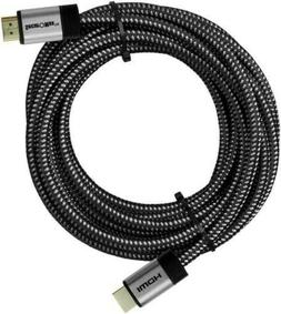 HDMI Cable 25 FT - Braided Cord - 4K HD 2.0 Ready - High Spe