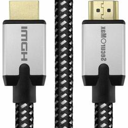 SecurOMax HDMI Cable  with Braided Cord, 6 Feet