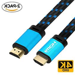 4K HDMI Cable 3.3 FT -  FiveHome HDMI 2.0 Ready - 18Gbps - 3