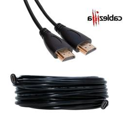 HDMI Cable Black High Speed Cord 3 6 10 12 15 25 30 35 40 50