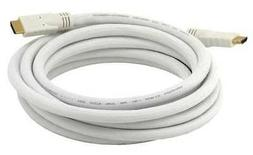 HDMI Cable,High Speed,White,15ft.,24AWG MONOPRICE 4036