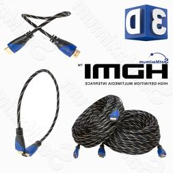 HDMI CABLE PREMIUM HIGH SPEED 1.4 Wire BLURAY 3D DVD HDTV HD