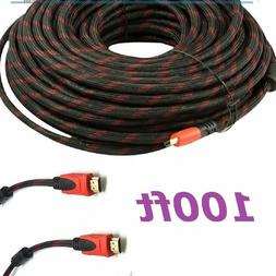 CableVantage PREMIUM HDMI CABLE 100FT For BLURAY 3D DVD PS4