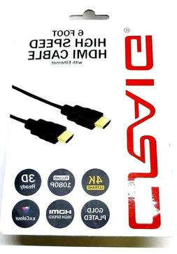 HDMI Cable With Ethernet -  6' - Craig High Speed