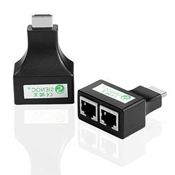 Sienoc HDMI To Dual Port RJ45 Network Cable Extender Over by