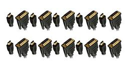C&E 10 Pack HDMI to DVI 24+1 Male to Male 6 Feet  CNE578224