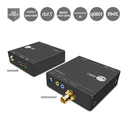SIIG HDMI Extender Over a Coaxial Cable  with IR Remote Cont