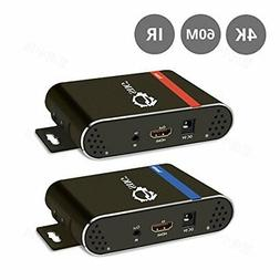 SIIG 197ft 4K 60Hz  HDMI Extender Over a Single CAT5e/6 Cabl