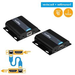 gofanco 395ft 1080p HDMI Extender Over IP Kit - 1 to Many or
