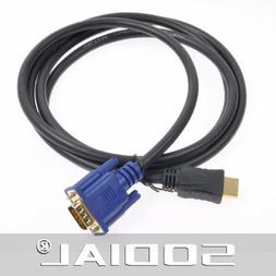 6FT 1.8M 1080P HDMI Gold Male To VGA HD-15 Male Male to Male