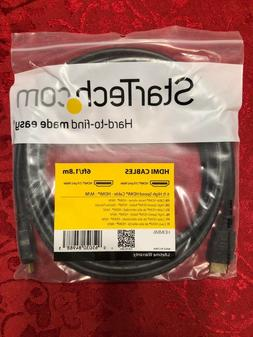 STARTECH HDMI High Speed Cable M/M - 6 foot ft/ 1.8 M Meters