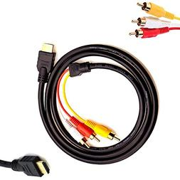 HDMI to RCA Cable - HDMI Male to 3RCA Video Audio AV Cable C