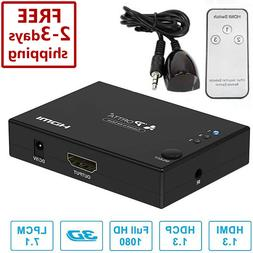 hdmi switch splitter box hub full hd