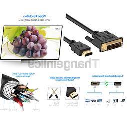 Rankie HDMI to DVI Cable, CL3 Rated High Speed Bi-Directiona