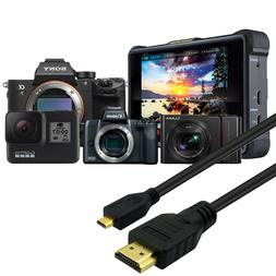 HDMI to Micro HDMI Video Cable for Sony a7 III, a7 II, a99 I