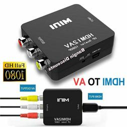 HDMI To RCA AV Adapter Converter Cable CVBS 3RCA 1080P Compo
