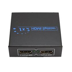 2 Port HDMI Y Splitter Amplifier 1 In To 2 Out Dual Display