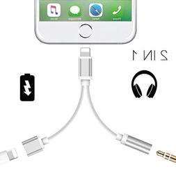 Headphone Adapter for iPhone 3.5mm Jack Headset Car Charge 2