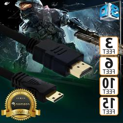 High Speed 3 6 10 15 FT HDMI to MINI-HDMI Cable Adapter for