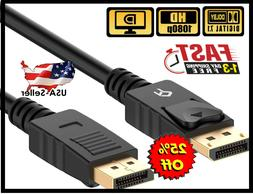 High Speed DP to DP Cable Gold Plated DisplayPort to Display