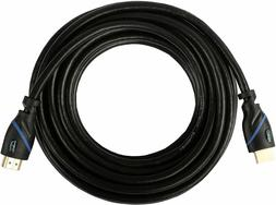 CE Tech High-Speed HDMI Cable with Ethernet, 25 Feet