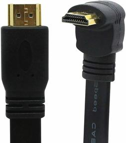 High Speed HDMI Extension Cable 1FT Flat Slim  A male to 90