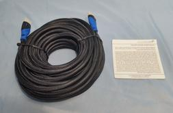 BlueRigger High Speed Nylon 50 ft. HDMI Cable ~ New, open bo