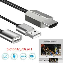 For iPhone/iPad/Android/Samsung HDMI Mir