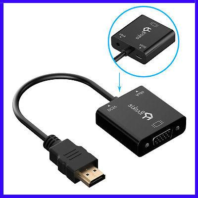 3-in-1 HDMI to VGA Adapter Cable Converter with Micro USB &