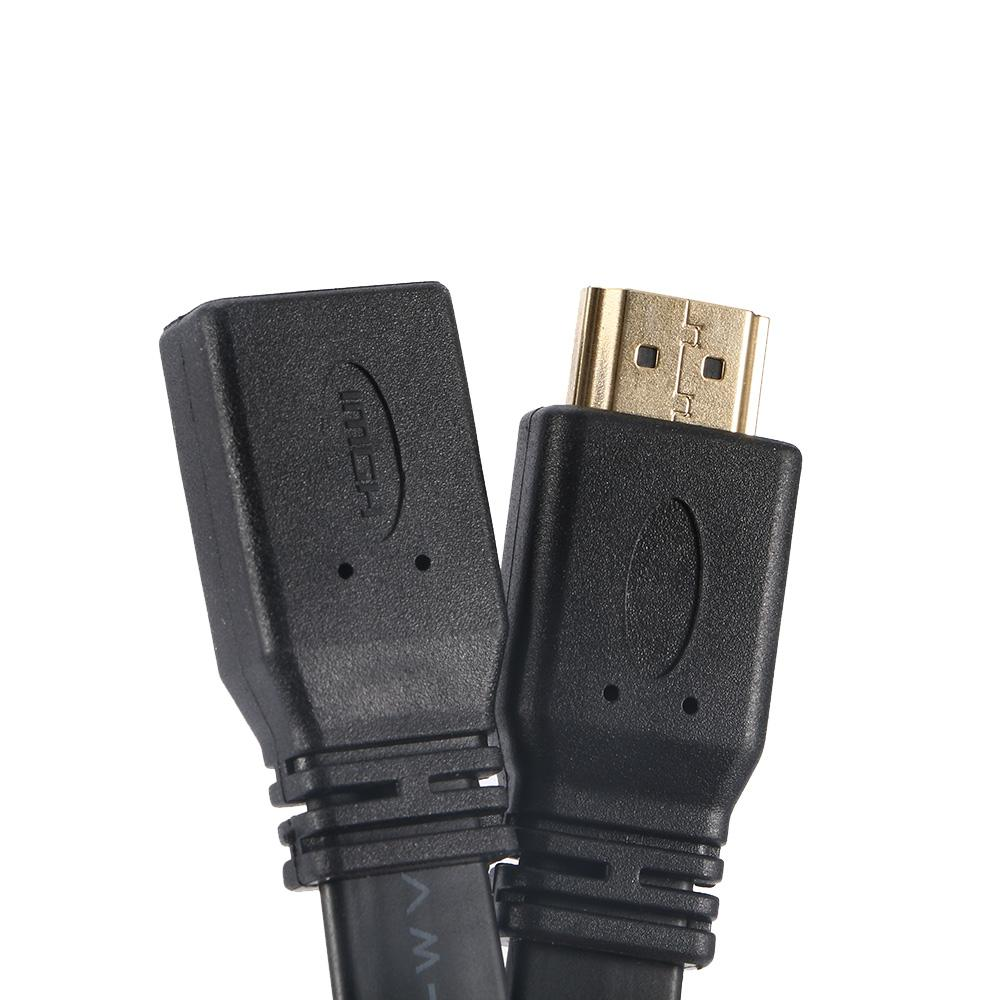1Pcs Quality 30cm Short Flat <font><b>HDMI</b></font> Extension Lead Female Socket Audio <font><b>Cable</b></font>