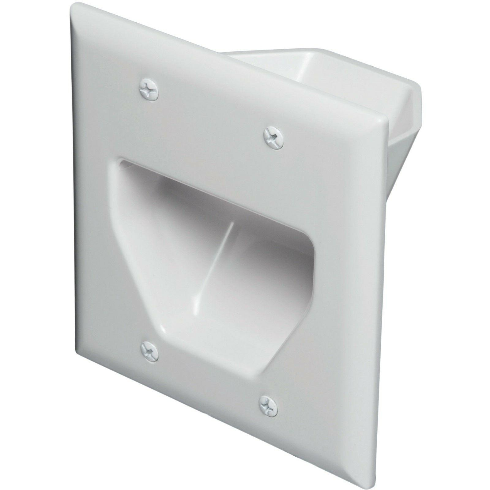 2-Gang Recessed Wall Plate Low Voltage Pass Through HDMI Spe