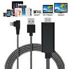 3 IN 1 Right Angle 8PIN to HDMI HDTV TV Digital AV USB Cable