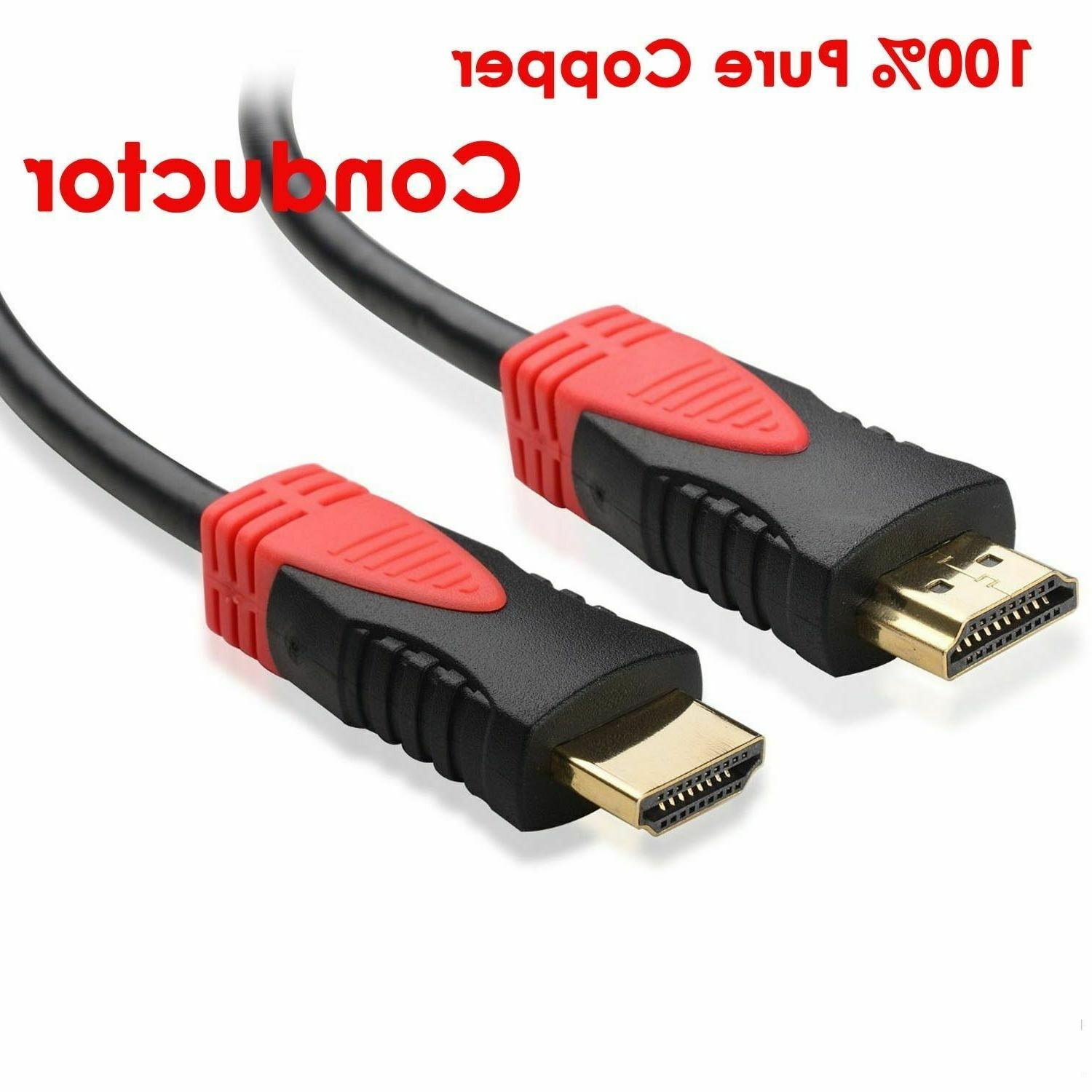 3ft Cable High 1080p 3D DVD PS4 HD TV Red