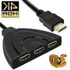 3 Port HDMI Splitter Cable 1080p Multi Switch Switcher HUB B