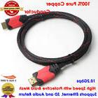 6ft High Quality HDMI Cable v1.4 4K 60Hz 3D 1080P- HDTV LCD