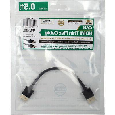 QVS 6ft High HDMI 4K Ethernet Cable