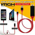 8 Pin Screen to HDMI AV TV HD 1080P IOS Adapter Cable Conver