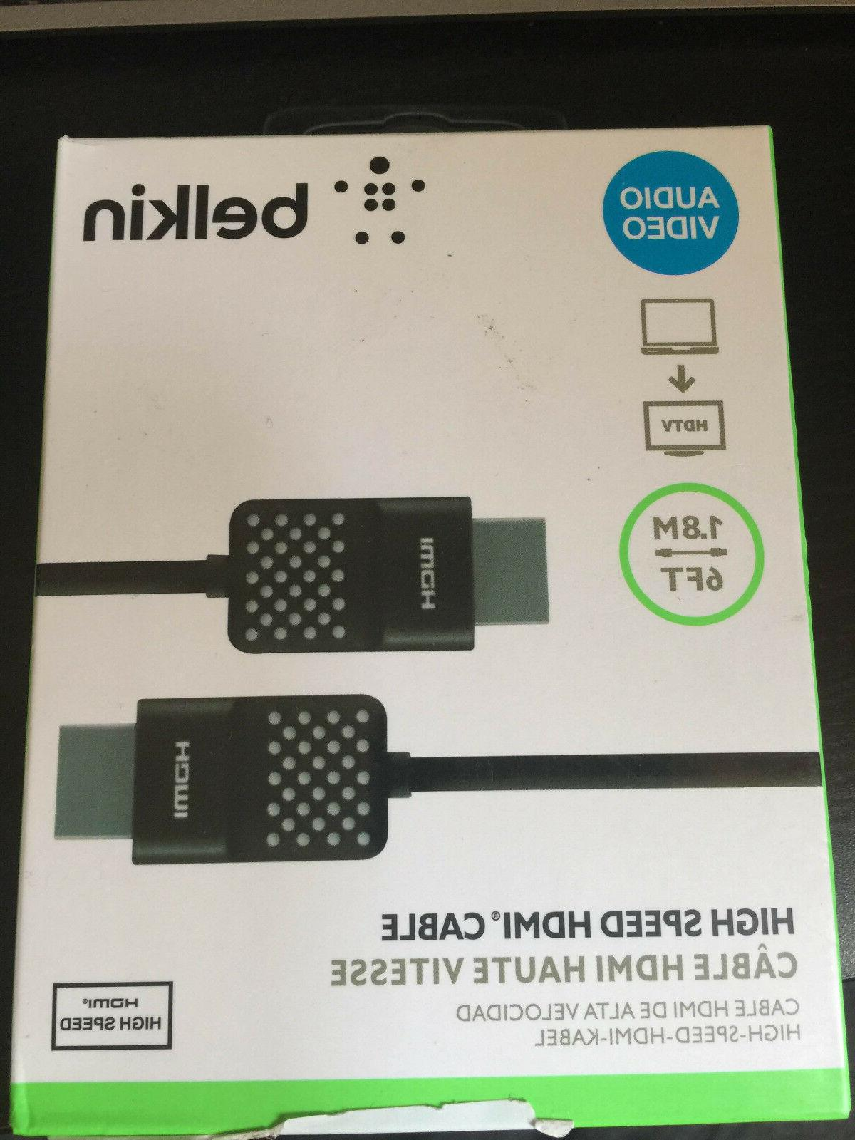 Belkin High-Speed HDMI Cable , HDMI 2.0 / 4K Compatible, 12
