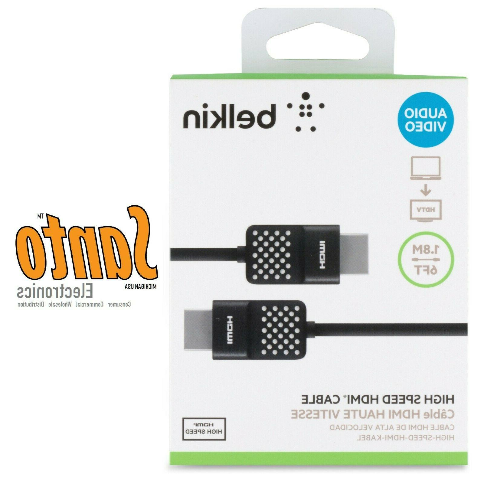 Belkin High-Speed HDMI Cable , HDMI 2.0 / 4K Compatible, 6 F