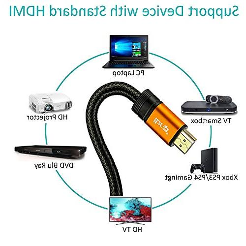 IBRA 5ft - UHD HDMI 2.0 Cord -Gold Plated 2160p,HD 1080p,3D PS3 PS4 PC Apple TV