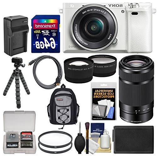 Sony A6000 Digital Camera & Lens + Card Case + Battery/Charger Tripod