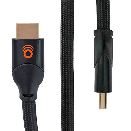 ECHOGEAR Braided HDMI Cable HDR Latest Standard - Supports 4k Signals Refresh 48gbps