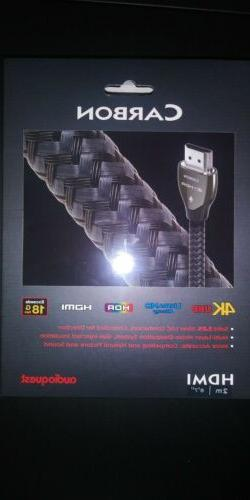 Audioquest Carbon HDMI Cable with Ethernet 4K Ultra HD - 2 m