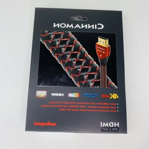 cinnamon hdmi cable 2m 4k hdr 18gbps