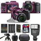 Nikon COOLPIX B500 Plum Camera 40x Optical Zoom + Flash + Ca